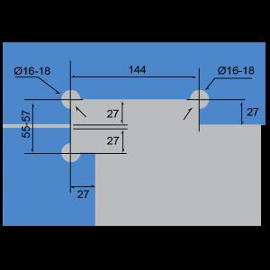 """Conector superior en """"L"""""""