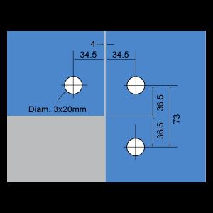 Soporte superior y conector lateral