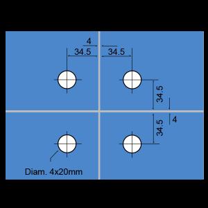 Conector para 4-páneles