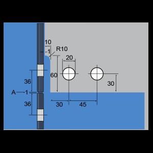 Conector para 4-páneles con aleta