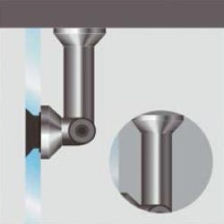 Soporte muro-vidrio (ajustable)