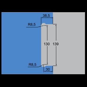 Cerradura central para puerta corrediza