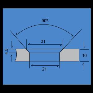 Soporte muro-vidrio (Versión económica)