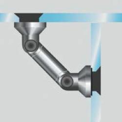 Soporte vidrio-vidrio (ajustable)