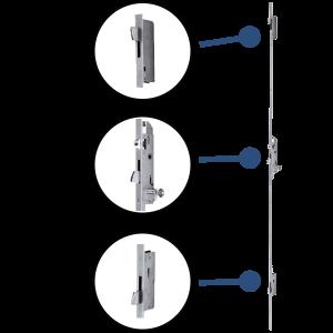 3-point door locks